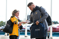 Kieran Brookes of Wasps arrives at The Ricoh Arena for the Premiership Cup fixture with Worcester Warriors - Mandatory by-line: Robbie Stephenson/JMP - 12/10/2019 - RUGBY - Ricoh Arena - Coventry, England - Wasps v Worcester Warriors - Premiership Rugby Cup