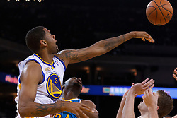 Mar 28, 2012; Oakland, CA, USA;  Golden State Warriors forward Jeremy Tyler (3) knocks the ball away from New Orleans Hornets power forward Carl Landry (24) during the first quarter at Oracle Arena. Mandatory Credit: Jason O. Watson-US PRESSWIRE