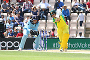 Marcus Stoinis batting during the ICC Cricket World Cup 2019 warm up match between England and Australia at the Ageas Bowl, Southampton, United Kingdom on 25 May 2019.