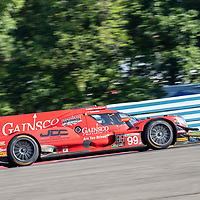 The JDC-Miller Motorsports ORECA LMP2 car practice for the Sahlen's Six Hours At The Glen at Watkins Glen International Raceway in Watkins Glen, New York.