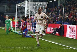 February 27, 2019 - London, England, United Kingdom - Manchester United's Ashley Young celebrate his goal.during English Premier League between Crystal Palace and Manchester  United at Selhurst Park stadium , London, England on 27 Feb 2019. (Credit Image: © Action Foto Sport/NurPhoto via ZUMA Press)