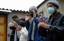 South Africa – Johannesburg – Eid Under lock down. Following 60 days of lock down and the last 30 days of fasting for Islamic followers under lock down regulations Eid is celebrated differently this year with believers not allowed to have Eidgah. A small group of men in Soweto say prayers in fear under pressure from regulations , family and the community . <br /> Picture: Timothy Bernard/African News Agency(ANA)