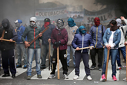 June 28, 2017 - Buenos Aires, Buenos Aires, Argentina - Serious clashes between Social Organizations and the police in the center of the city of buenos aires. Several social organizations protested against the government's economic policies. (Credit Image: © Claudio Santisteban via ZUMA Wire)
