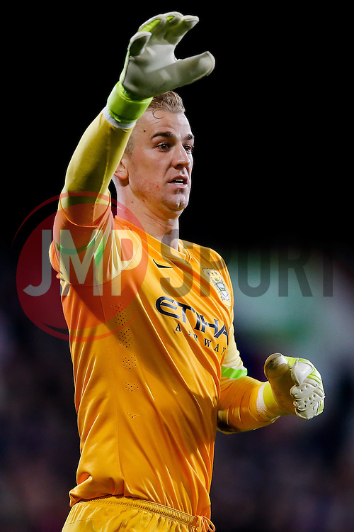 Joe Hart of Manchester City - Photo mandatory by-line: Rogan Thomson/JMP - 07966 386802 - 06/04/2015 - SPORT - FOOTBALL - London, England - Selhurst Park - Crystal Palace v Manchester City - Barclays Premier League.