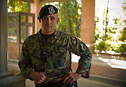 Airman First Class Jonathan Garrett, 437th Security Forces, poses for a portrait at Charleston Charleston Air Force Base, S.C., on Oct. 30, 2008.