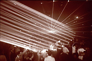 Lights and lasers in a Club, High Wycombe, UK, 1980s.