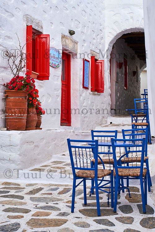 Grece, les Cyclades, ile de Amorgos, village de Langada // Greece, Cyclades islands, Amorgos, Katapola bay, Langada village