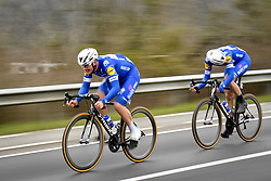 March 23, 2018 - Harelbeke, Belgium - Belgian Yves Lampaert of Quick-Step Floors and Dutch Niki Terpstra of Quick-Step Floors pictured in action during the 61st edition of the 'E3 Prijs Vlaanderen Harelbeke' cycling race, 206,5 km from and to Harelbeke. (Credit Image: © Dirk Waem/Belga via ZUMA Press)