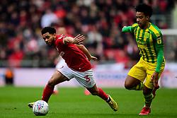 Jay Dasilva of Bristol City is challenged by Matheus Pereira of West Bromwich Albion - Mandatory by-line: Ryan Hiscott/JMP - 22/02/2020 - FOOTBALL - Ashton Gate - Bristol, England - Bristol City v West Bromwich Albion - Sky Bet Championship