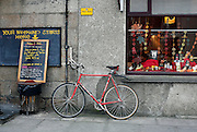 A bicycle parked outside a pub on the island of St. Marys in the Isles of Scilly Sunday Nov. 11, 2007 Picture by Christopher Pledger