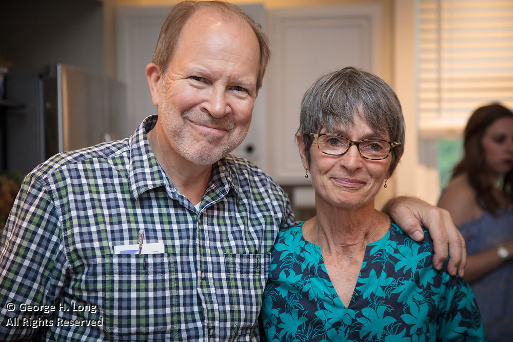 David and Martha Gruning at Alexander Johnson's 2nd birthday party at the home of Courtney Blitch and George Long in Abita Springs, Louisiana on June 24, 2017; photo ©2017. George H. Long