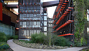 Intersection with administrative offices, Quai Branly Museum, 2007, by architect Jean Nouvel, Paris, France. Picture by Manuel Cohen.
