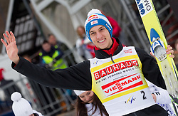 SCHLIERENZAUER Gregor (AUT), overall Second placed at World Cup classfication at trophy ceremony after the Flying Hill Individual competition at 4th day of FIS Ski Jumping World Cup Finals Planica 2012, on March 18, 2012, Planica, Slovenia. (Photo by Vid Ponikvar / Sportida.com)