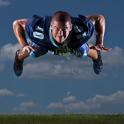 Newsome tight end Joe Worth(10) performs push ups that send him into the air.  [WILLIE J. ALLEN JR., Times]