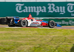 March 9, 2019 - St. Petersburg, FL, U.S. - ST. PETERSBURG, FL - MARCH 09: A.J. Foyt Enterprises driver Matheus Leist (4) of Brazil during the NTT IndyCar Series - Firestone Grand Prix Qualifying on March 9 in St. Petersburg, FL. (Photo by Andrew Bershaw/Icon Sportswire) (Credit Image: © Andrew Bershaw/Icon SMI via ZUMA Press)