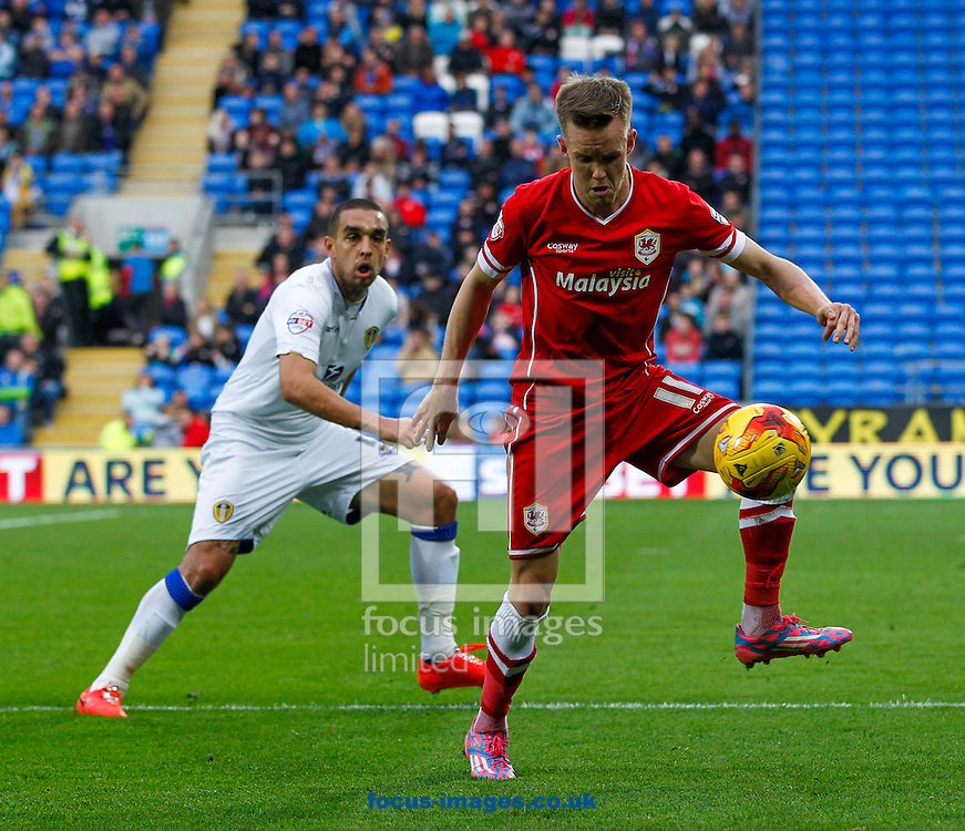 Craig Noone of Cardiff City during the Sky Bet Championship match at the Cardiff City Stadium, Cardiff<br /> Picture by Mike  Griffiths/Focus Images Ltd +44 7766 223933<br /> 01/11/2014