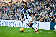 West Bromwich Albion defender Kieran Gibbs (3) looks to release the ball during the EFL Sky Bet Championship match between West Bromwich Albion and Middlesbrough at The Hawthorns, West Bromwich, England on 2 February 2019.