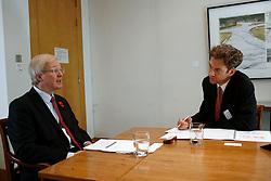 UK ENGLAND LONDON 8NOV11 - David Shairp, global strategist at JP Morgan Asset Management talks during an interview with Frankfurter Allgemeine reporter Dirk Scherff (R) at the bank's London headquarters...jre/Photo by Jiri Rezac..© Jiri Rezac 2011