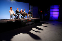 11 November 2010:  SoCal Action Sports Network Event at the Gothic Moon production studios in Orange, California.  Host Bryan Elliott. Guest Panel; Amy Kosper, Seth Scott, Brentt Edas and Gene Pao on stage discussing business and taking questions from the audience.