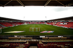 A general view of The Keepmoat Stadium, home to Doncaster Rovers - Mandatory by-line: Robbie Stephenson/JMP - 19/10/2019 - FOOTBALL - The Keepmoat Stadium - Doncaster, England - Doncaster Rovers v Bristol Rovers - Sky Bet League One
