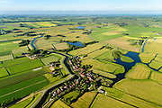 Nederland, Noord-Holland, Gemeente Alkmaar, 13-06-2017; Driehuizen, gelegen op de grens van de Schermer, polder L en de Eilandspolder. Onderdeel Nationale Landschap Laag Holland.<br /> National Landscape of Low Holland, 'Netherlands', w village Three houses.<br /> <br /> luchtfoto (toeslag op standard tarieven);<br /> aerial photo (additional fee required);