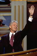 Bill Clinton and Al Gore at the Democratic National Convention in Chicago.