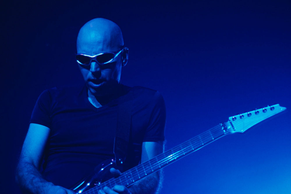 Joe Satriani, rock guitarist, guitar instructor to Steve Vai. He played with Mick Jagger, the G3 Tour, lead guitarist for Deep Purple, now plays with Chickenfoot. Since 1988, Satriani has been using Ibanez JS Series.