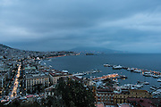 Naples, view of the gulf and the Vesuvio Volcano