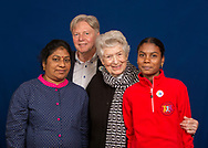 Rosi Gollmann from Germany is one of the laureates of World&rsquo;s Childrens Prize 2017. From left: Daizy Dolovincy, Wilhelm Schumacher, Rosi Gollmann and Ananthi Ramlingam.<br />