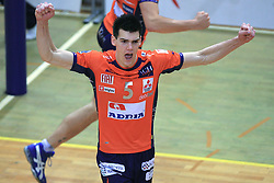 Alen Sket at last final volleyball match of 1.DOL Radenska Classic between OK ACH Volley and Salonit Anhovo, on April 21, 2009, in Arena SGS Radovljica, Slovenia. ACH Volley won the match 3:0 and became Slovenian Champion. (Photo by Vid Ponikvar / Sportida)