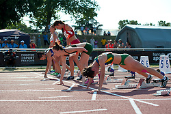 Behind the scenes, LIEBENBERG Anrune, FINDER Sheila, RSA, BRA, 100m, T46, 2013 IPC Athletics World Championships, Lyon, France