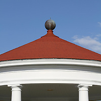 The top of a Gazebo in a public park along side the Newport, Rhode Island, waterfront.