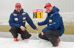 Tomas Kos and Uros Velepec during media day of Slovenian biathlon team before new season 2013/14 on November 14, 2013 in Rudno polje, Pokljuka, Slovenia. Photo by Vid Ponikvar / Sportida