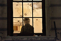 Student protesters damage Treasury windows during student anti-cuts protest Parliament Square 11,12,10