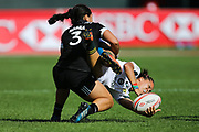 DUBAI, UNITED ARAB EMIRATES - Thursdays 30 November 2017, Mathrin Simmers of South Africa is tackled by Stacey Waaka of New Zealand during HSBC Emirates Airline Dubai Rugby Sevens match between South Africa and New Zealand at The Sevens Stadium in Dubai.<br /> Photo by Roger Sedres/ImageSA