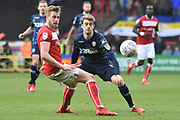 Leeds United forward Patrick Bamford (9) plays a pass during the EFL Sky Bet Championship match between Bristol City and Leeds United at Ashton Gate, Bristol, England on 9 March 2019.