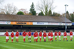 MERTHYR TYDFIL, WALES - Thursday, November 2, 2017: Wales players during an Under-18 Academy Representative Friendly match between Wales and Newport County at Penydarren Park. (Pic by David Rawcliffe/Propaganda)