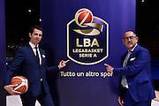 Egidio Bianchi, Federico Zurleni<br /> Presentazione Campionato Lega Basket 2016-2017<br /> Basket Serie A  2016<br /> Milano 26/09/2016<br /> Foto Ciamillo-Castoria