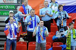 Slovenian fans during the match against South Korea