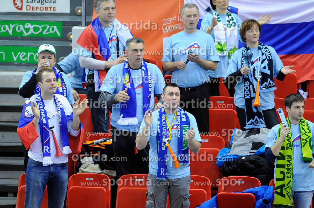 Slovenian fans during the match against South Korea