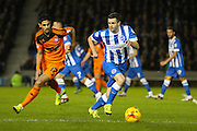 Brighton winger, Jamie Murphy (15) on the ball during the Sky Bet Championship match between Brighton and Hove Albion and Ipswich Town at the American Express Community Stadium, Brighton and Hove, England on 29 December 2015. Photo by Phil Duncan.