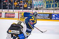 2020-01-17 | Rauma, Finland : Lukko (27) Ponthus Westerholm scores 3-1 to empty net during the game between Lukko-Kärpät in Kivikylän Areena ( Photo by: Elmeri Elo | Swe Press Photo )