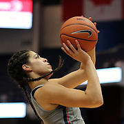 HARTFORD, CONNECTICUT- JANUARY 4: Kia Nurse #11 of the Connecticut Huskies drives to the basket during the UConn Huskies Vs East Carolina Pirates, NCAA Women's Basketball game on January 4th, 2017 at the XL Center, Hartford, Connecticut. (Photo by Tim Clayton/Corbis via Getty Images)
