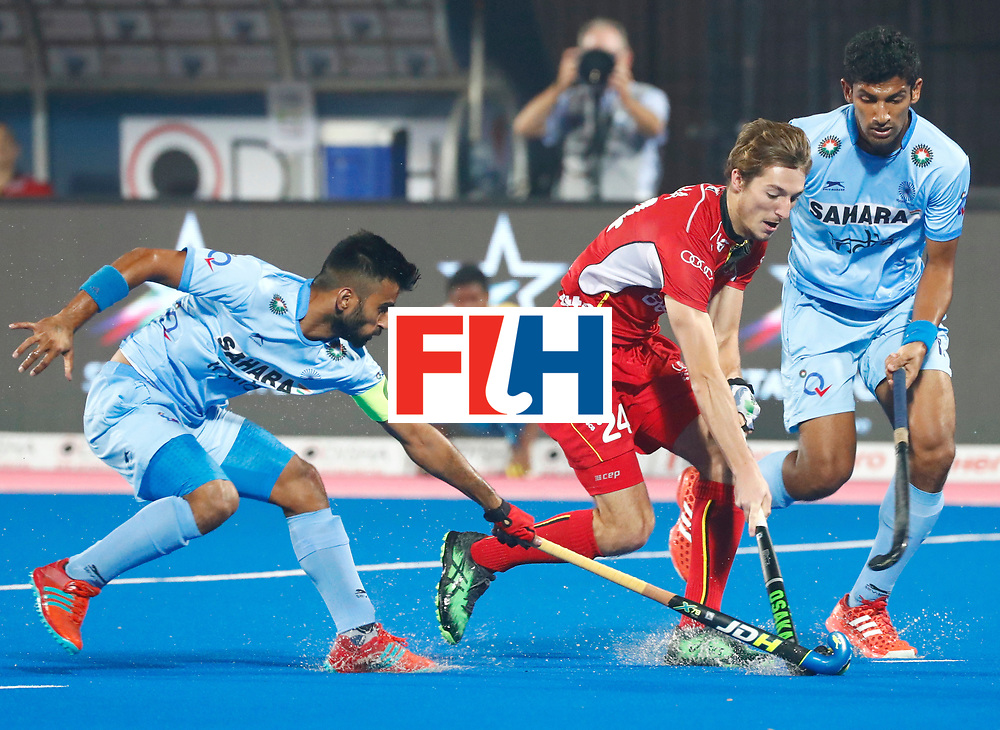 Odisha Men's Hockey World League Final Bhubaneswar 2017<br /> Match id:13<br /> Belgium v India<br /> Foto: Antoine Kina (Bel)  <br /> COPYRIGHT WORLDSPORTPICS KOEN SUYK