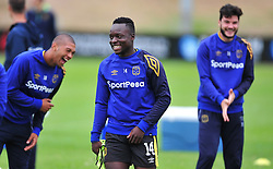Cape Town--180329 Cape Town City striker  Nana Bembah at training preparing for heir Nedbank Cup game against Sundowns on sunday  .Photographer;Phando Jikelo/African News Agency/ANA