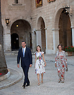 Palma de Mallorca, 07-08-2016<br /> <br /> King Felipe and Queen Letizia and Queen Sofia during gave an audience for local authorities at the Almudaina's Palace in Palma Mallorca.<br /> <br /> <br /> Royalportraits Europe/Bernard Ruebsamen