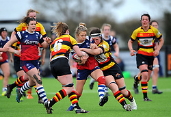 Elinor Snowsill of Bristol Bears Women tackled by Povey of Richmond Women- Mandatory by-line: Nizaam Jones/JMP - 23/03/2019 - RUGBY - Shaftesbury Park - Bristol, England - Bristol Bears Women v Richmond Women- Tyrrells Premier 15s