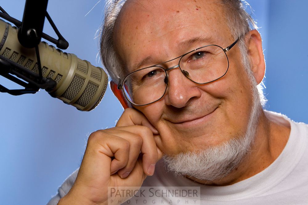 The best photos make emotional connections with readers and help tell a story. Readers seeing this corporate portrait of radio host Roger Burt said the image makes Burt seem welcoming and ready to share wonderful stories over a fresh cup of coffee. Notice the importance of having a microphone in the scene. Even without a caption or cutline, the photo tells a story to anyone who sees it.