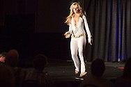ORLANDO, FL - AUGUST 14:  Celebrity impersonator Athena Zherebilovska of Brooklyn, performs during the Sunburst Convention of Celebrity Tribute Artists in Orlando, Florida, August 14, 2009. The annual convention offers the artists an opportunity to perform for agents and other talent buyers. (Photo by Matt Stroshane/Getty Images)