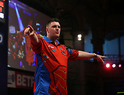 Daryl Gurney during the World Matchplay Darts 2019 at Winter Gardens, Blackpool, United Kingdom on 23 July 2019.